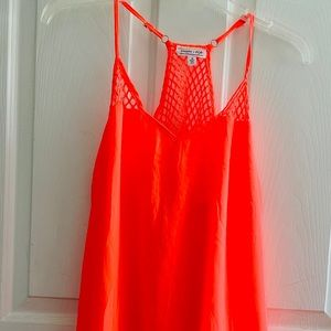 NWOT Neon Orange Swim Suit Cover Up Medium